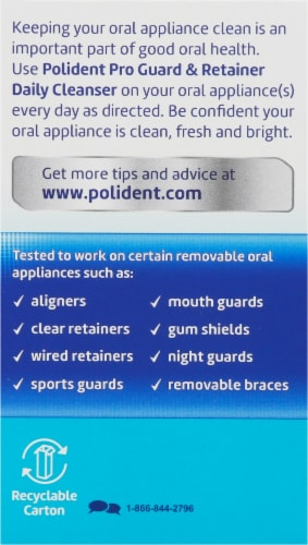 Polident ProGuard & Retainer Antibacterial Daily Cleanser Tablets Perspective: right