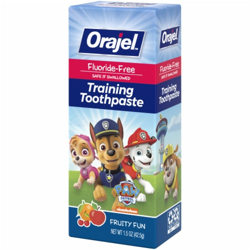 Orajel Paw Patrol Fruity Fun Training Toothpaste Perspective: right