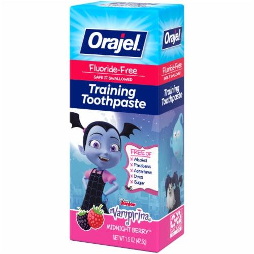 Orajel Vampirina Midnight Berry Fluoride-Free Training Toothpaste Perspective: right