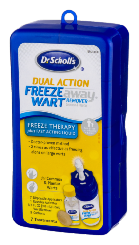 Dr. Scholl's Dual Action Freeze Away Treatment Kit Perspective: right