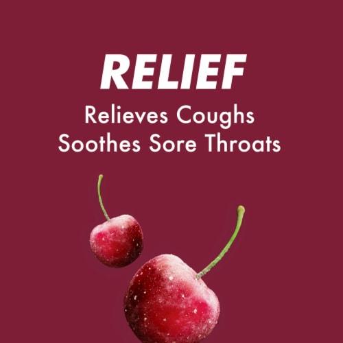 HALLS Relief Sugar Free Black Cherry Flavor Cough Suppressant Drops Perspective: right