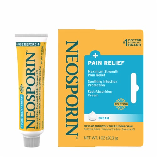 Neosporin Infection Protection and Max Pain Relief Cream Perspective: right