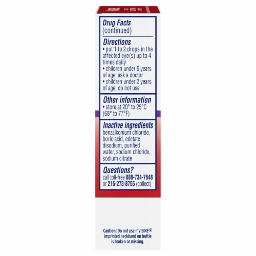 Visine Maximum Strength Redness Relief Lubricant / Redness Reliever Eye Drops Perspective: right