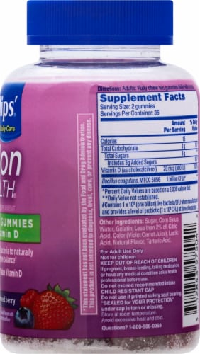 Phillips Colon Health Mixed Berry Probiotic Gummies Perspective: right