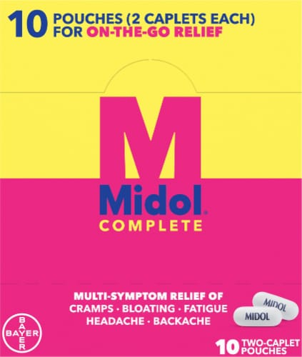 Midol Complete Multi-Symptom Relief Caplets Perspective: right