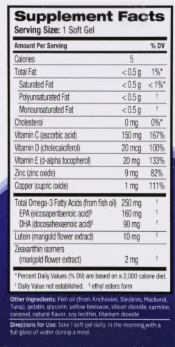 Ocuvite Eye Vitamin & Mineral Supplement Perspective: right