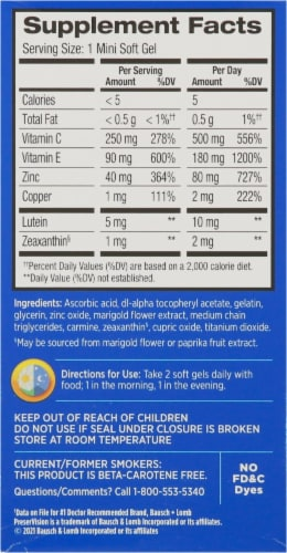 PreserVision Areds 2 Formula Eye Vitamin & Mineral Supplement Perspective: right