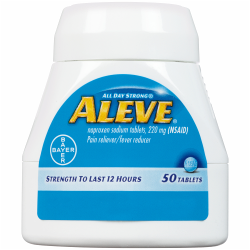 Aleve Naproxen Sodium Pain Reliever/Fever Reducer Tablets 220mg Perspective: right