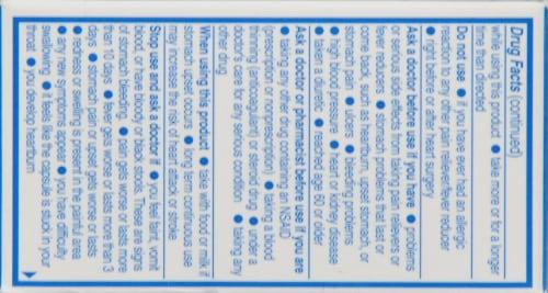 Aleve Naproxen Sodium 220mg Liquid Gels Perspective: right