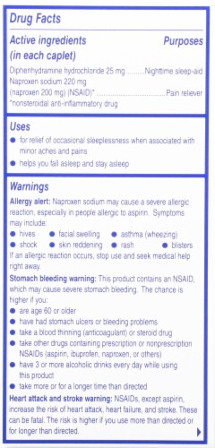 Aleve PM Sleep Aid Caplets Perspective: right