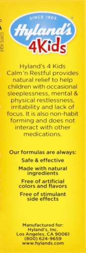 Hyland's 4 Kids Calm 'n Restful Sleep Supplement Tablets Perspective: right