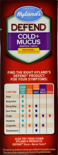 Hyland's Homeopathic Defend Cold & Mucus Perspective: right