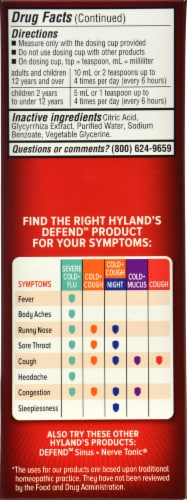 Hyland's Homeopathic Defend Non-Drowsy Cough Syrup Perspective: right