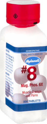 Hyland's Homeopathic #8 Magnesia Phosphorica 6x Muscle Cramps & Pains Tablets Perspective: right