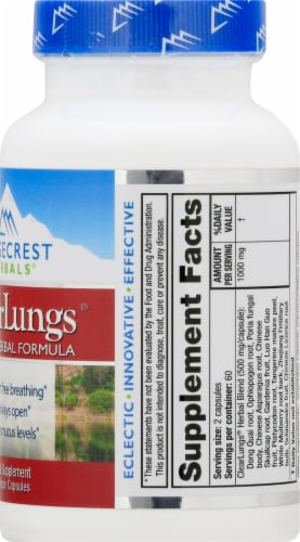 Ridgecrest Herbals ClearLungs Capsules Perspective: right