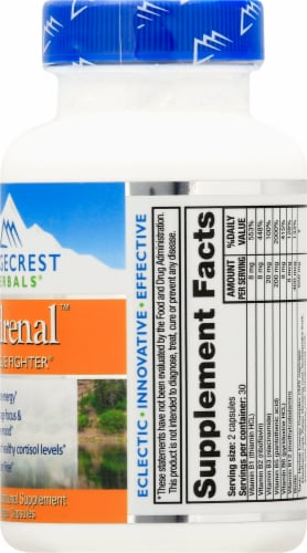 Ridgecrest Herbals Adrenal Fatigue Fighter Vegan Capsules Perspective: right