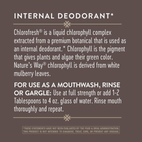 Nature's Way Chlorofresh® Liquid Chlorophyll Mint Perspective: right