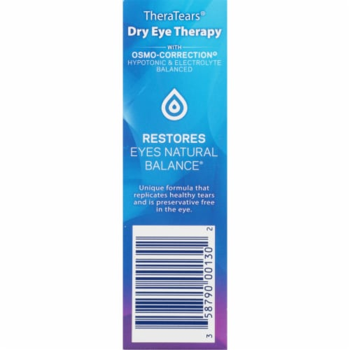 TheraTears Lubricant Eye Drops Value Size Perspective: right