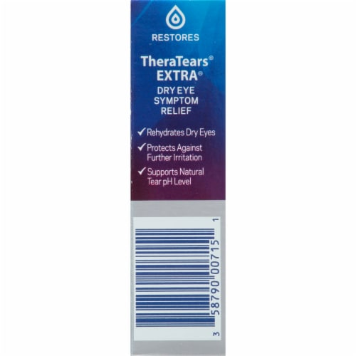 Thera Tears Extra Dry Eye Therapy Lubricant Eye Drops Perspective: right