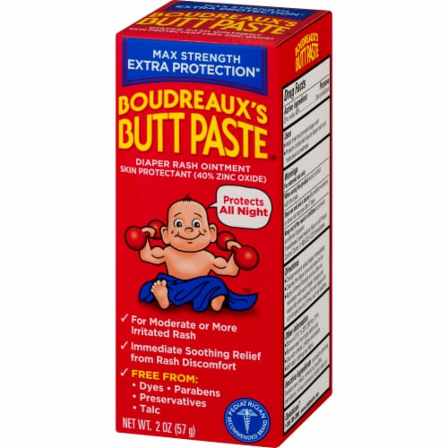 Boudreaux's Maximum Strength Butt Paste Diaper Rash Ointment Perspective: right