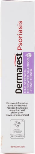 Dermarest Psoriasis Medicated Shampoo & Conditioner Perspective: right