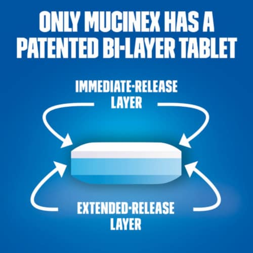Mucinex Maximum Strength 12-Hour Chest Congestion Expectorant Relief Medicine 1200mg Tablets Perspective: right