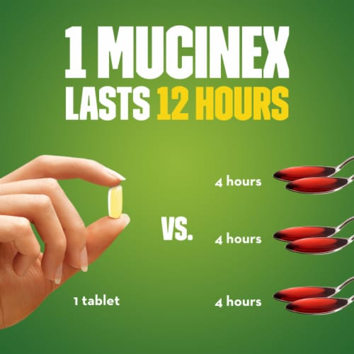 Mucinex DM Maximum Strength 12-Hour Expectorant and Cough Suppressant Medicine Bi-Layer Tablets Perspective: right