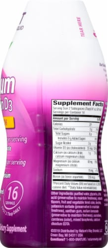 Wellesse Calcium & Vitamin D Bone Health Liquid Dietary Supplement Perspective: right
