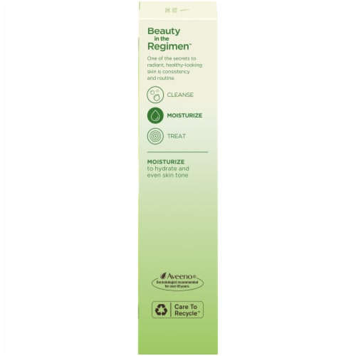 Aveeno Positively Radiant Daily Moisturizer Sunscreen SPF 30 Perspective: right