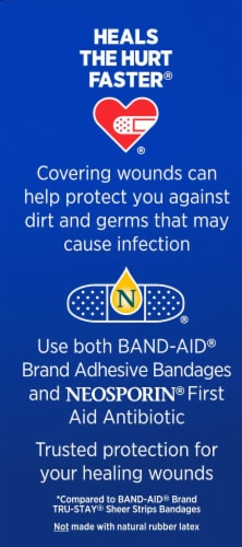 Band-Aid Tough Strips Fabric Adhesive Bandages Perspective: right