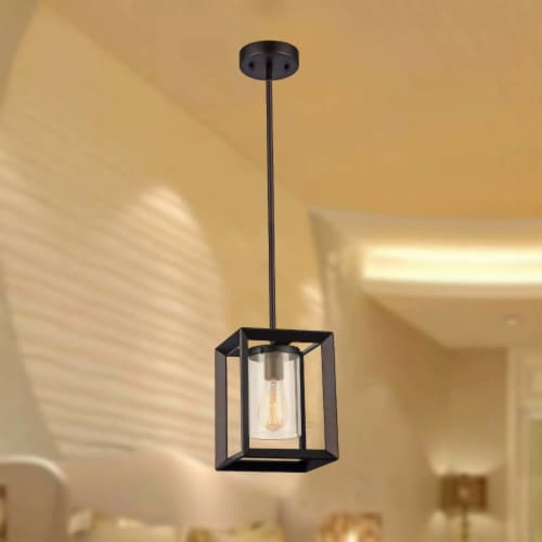 IRONCLAD Industrial-style 1 Light Rubbed Bronze Ceiling Mini Pendant 7  Shade Perspective: right