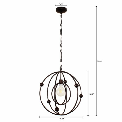 Lighting IRONCLAD Farmhouse 1 Light Oil Rubbed Bronze Ceiling Pendant 18  Wide Perspective: right