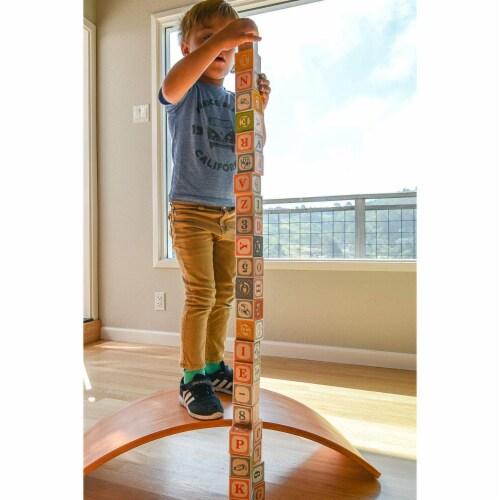 Kinderfeets Original Kinderboard Versatile Waldorf Wood Balance Board, Bamboo Perspective: right