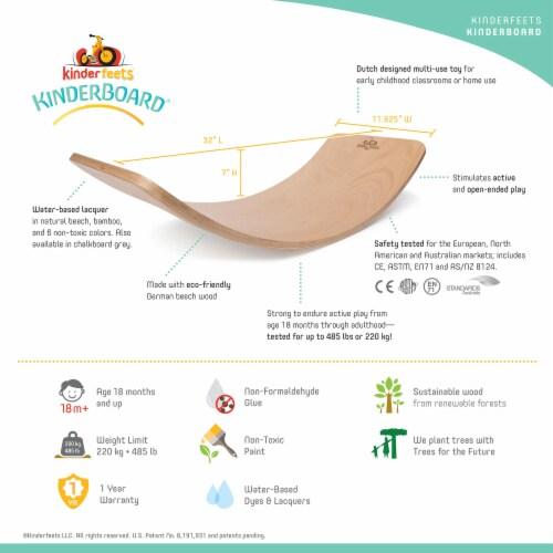 Kinderfeets Original Kinderboard Versatile Wood Balance Board, Chalkboard Perspective: right