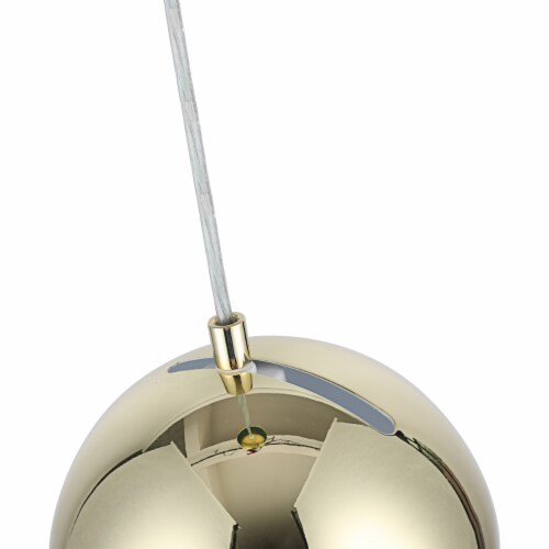 Lighting IRONCLAD Contemporary-Style 1 Light Plated Gold Ceiling Mini Pendant 8  Wide Perspective: right
