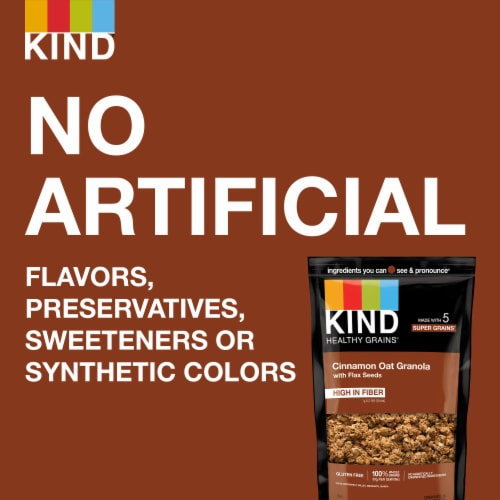 KIND Healthy Grains Cinnamon Oat Clusters with Flax Seed Perspective: right