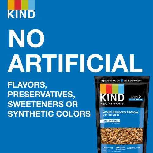 KIND Healthy Grains Vanilla Blueberry Clusters With Flax Seeds Perspective: right