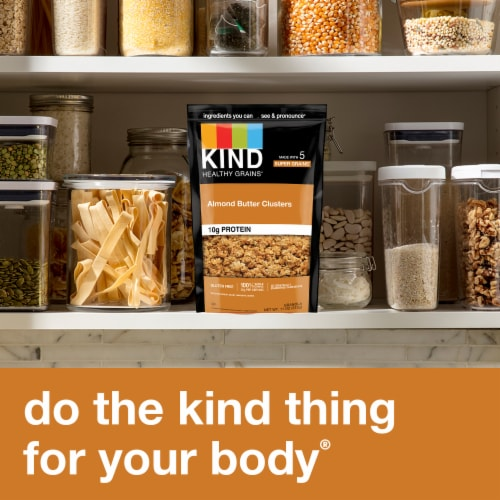 KIND Healthy Grains Almond Butter Whole Grain Clusters Perspective: right