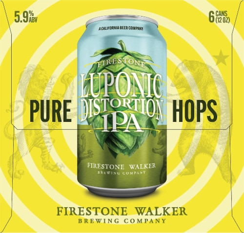 Firestone Walker Luponic Distortion IPA Beer Perspective: right