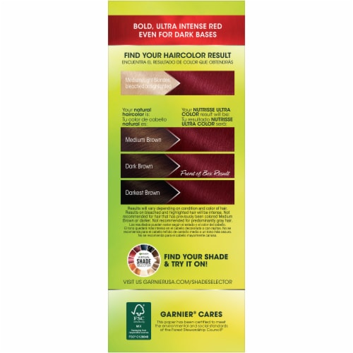 Garnier Nutrisse Ultra Color Medium Intense Auburn Hair Color Kit Perspective: right