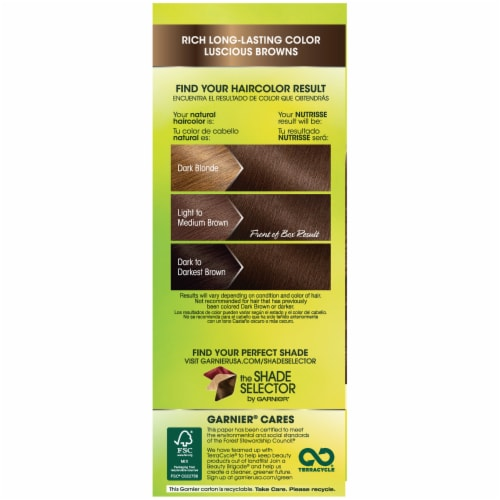 Garnier Nutrisse 50 Medium Natural Brown Nourishing Color Creme Hair Color Perspective: right