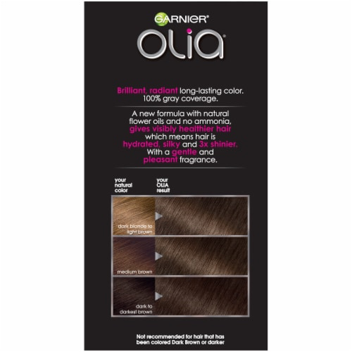 Garnier Olia 5.03 Medium Neutral Brown Hair Color Perspective: right