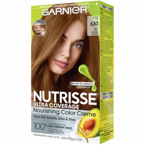 Garnier Nutrisse Ultra Coverage 630 Toffee Nut Hair Color Perspective: right