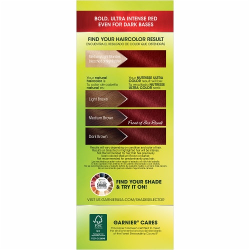 Garnier Nutrisse Ultra Color Red Autumn Hair Color Kit Perspective: right