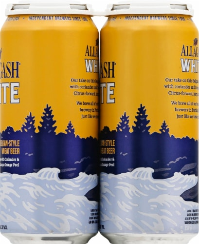 Allagash White Belgian Style Wheat Beer Perspective: right