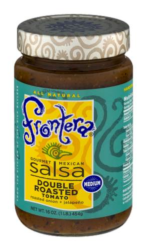 Frontera Gourmet Mexican Double Roasted Tomato Medium Salsa Perspective: right