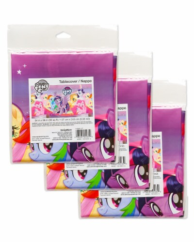 American Greetings My Little Pony Pink Plastic Table Covers Perspective: right
