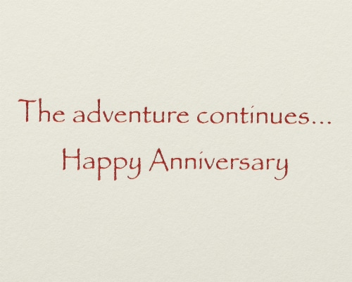 Papyrus Anniversary Card (Sailboat) Perspective: right