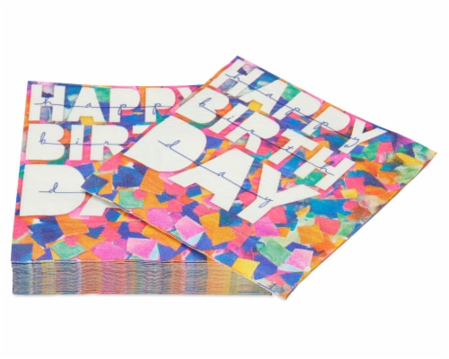 American Greetings Confetti Birthday Paper Napkins Perspective: right