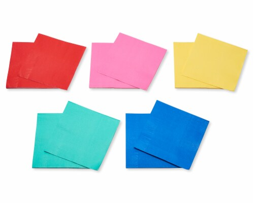 American Greetings Assorted Colors Lunch Napkins Perspective: right